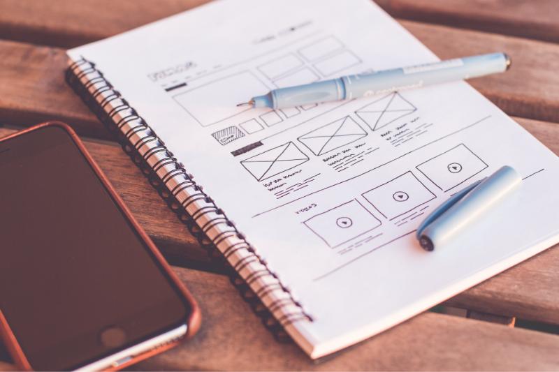 Wireframe for website design