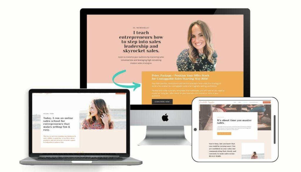 Web Design for Sales Coach